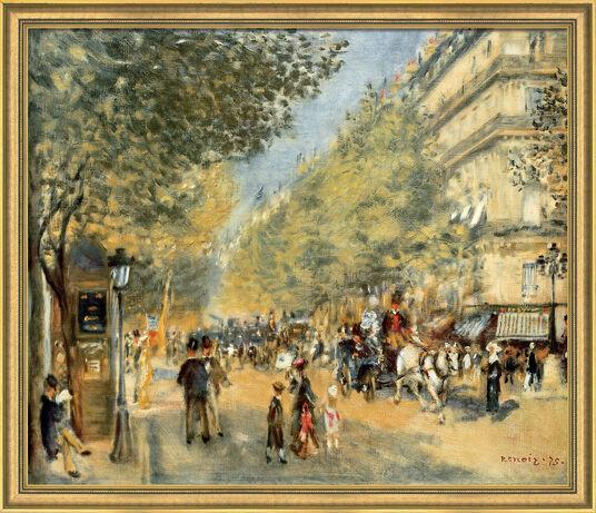 """Auguste Renoir: Bild """"Die großen Boulevards"""" (1875), gerahmt"""