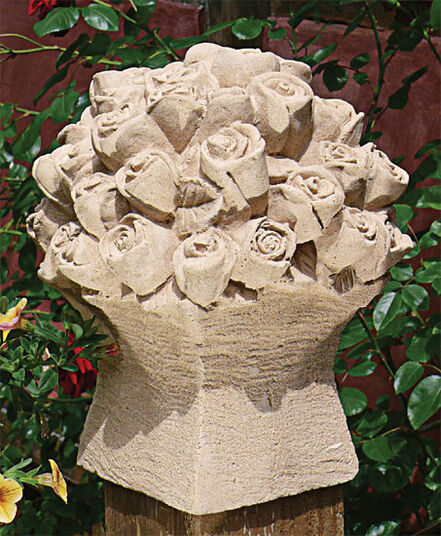 "Garden object ""Roses Bouquet"", stone molding"