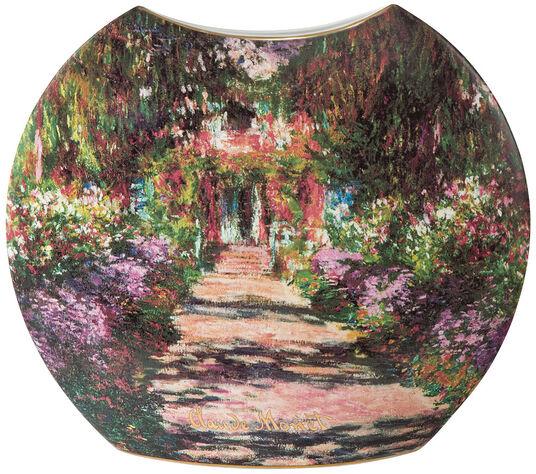 """Claude Monet: Porzellanvase """"Garten in Giverny"""" mit Golddekor, kleine Version"""