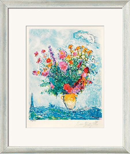 """Marc Chagall: Bild """"Le Bouquet et la Tour Eiffel"""", gerahmt"""