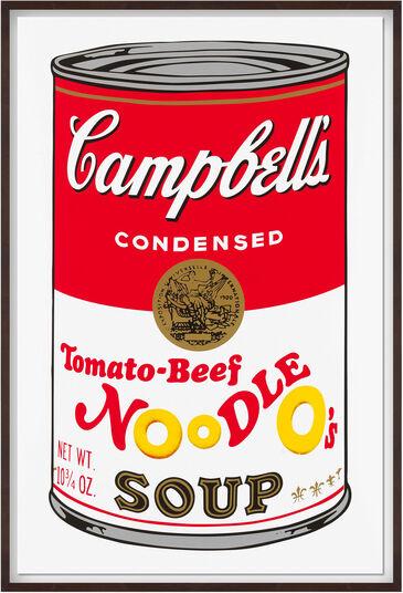 "Andy Warhol: Bild ""Warhols Sunday B. Morning - Campbell´s Soup - Tomato Beef"" (1980er Jahre)"