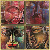 4 Buddha Pictures in a Set