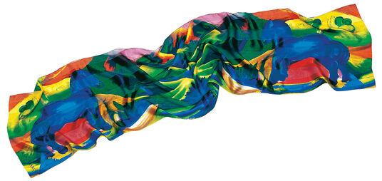 """Franz Marc: Silk scarf """"Blue Horse"""", 1911"""