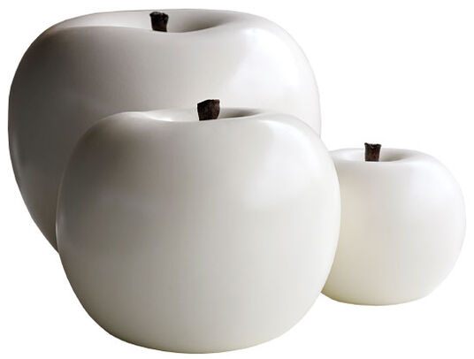 "Ceramic Object ""Apple White"", (small version)"