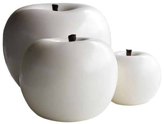 "Ceramic Object ""Apple White"", (medium version)"