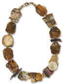 "Necklace ""Petrified Wood"""