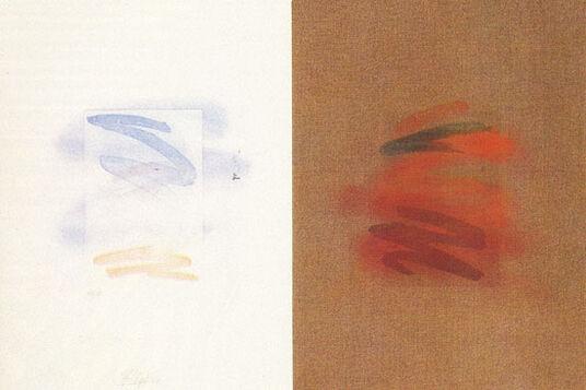 """Bernhard Lüthi: Bild """"australia, the red centre"""" (1980), ungerahmt"""