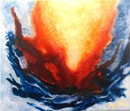 """Bild """"Feuer und Wasser"""" (2012) (Original / Unikat), ungerahmt"""