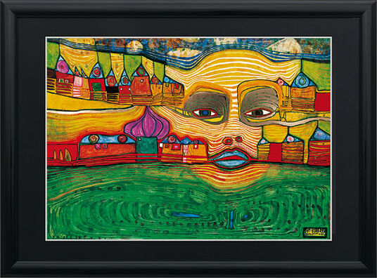 "Friedensreich Hundertwasser: Painting ""Irinaland over The Balcans"""