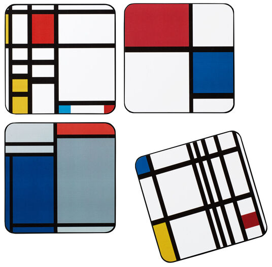 """Untersetzer """"Mondrian"""", 4er-Set"""