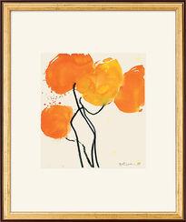 "Bild ""Oranger Mohn"", 1998, gerahmt"