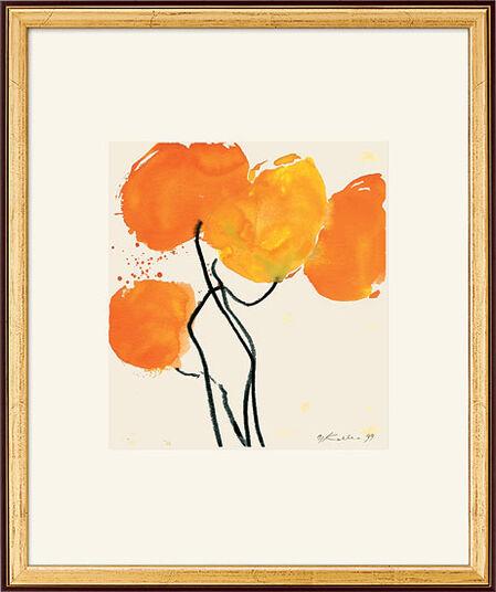 """Oskar Koller: Bild """"Oranger Mohn"""", 1998, gerahmt"""