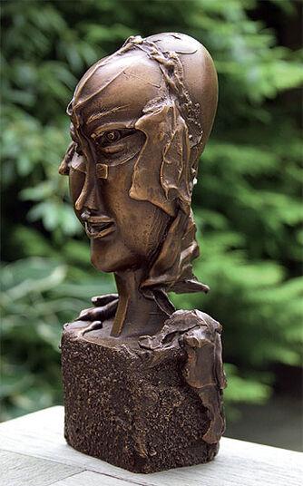 "Paul Wunderlich: Sculpture ""Head of a Woman "" Bronze"