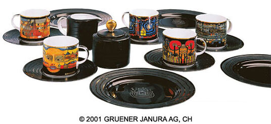 Friedensreich Hundertwasser: 20-Part Coffee Set