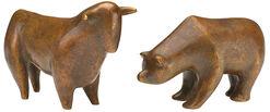 """Skulpturen """"Bulle und Bär"""" im Set"""