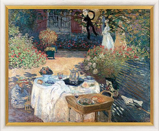 """Claude Monet: Bild """"Im Garten Claude Monets in Argenteuil"""" (1873), gerahmt"""