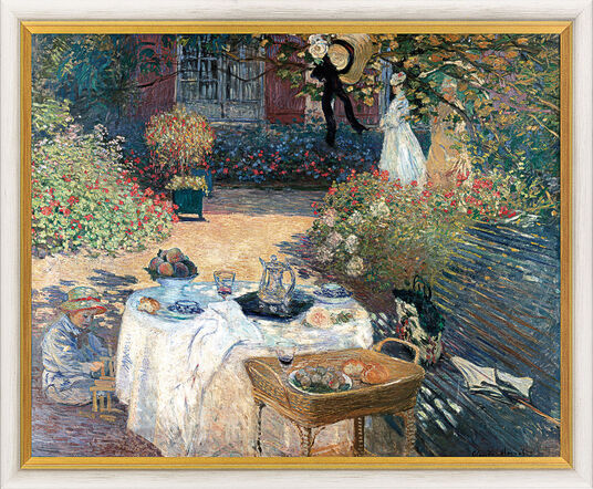 claude monet bild im garten claude monets in argenteuil 1873 gerahmt ars mundi. Black Bedroom Furniture Sets. Home Design Ideas