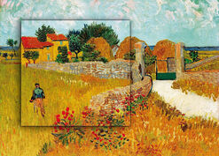 """Bild """"Un Mas de Provence (Ein Bauernhaus in der Provence)"""" (1888), Dimension 2"""