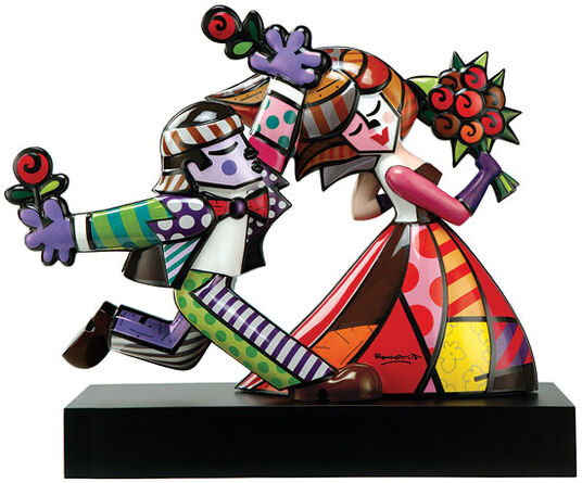 "Romero Britto: Porcelain Sculpture ""Follow Me"""