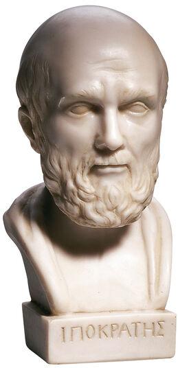 Büste des Hippokrates, Kunstguss