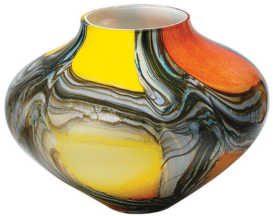 "Glass Vase ""Hurricane"" bulbous version"