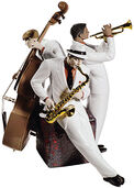Porcelain figurine 'Jazz Trio', hand-painted