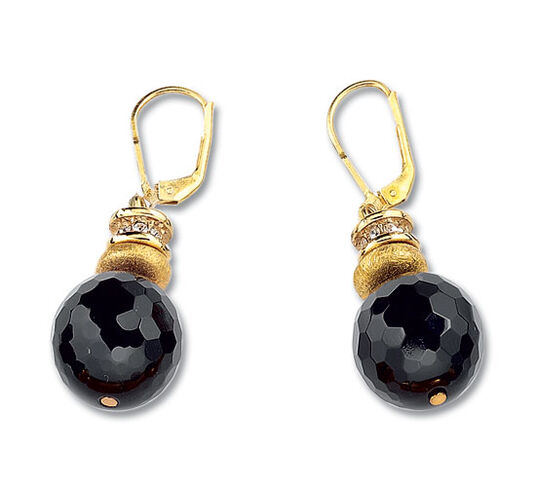 "Petra Waszak: Earrings ""Onyx Judith"""