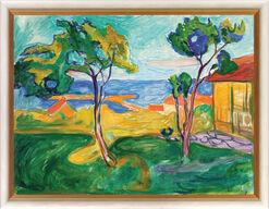 """Bild """"Der Garten in Asgardstrand"""" (1904-05), gerahmt"""