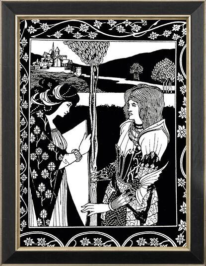"""Aubrey Beardsley: Bild """"Tristan und Isolde"""" (1893), gerahmt"""