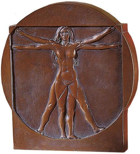 """Leonardo da Vinci: """"Schema delle Proporzioni"""", Standing Relief """"Woman"""""""