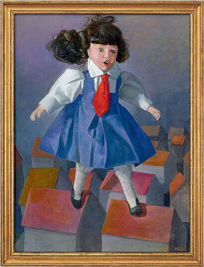"Gudrun Brüne: Bild ""Darüber weg"" (2003) (Original / Unikat), gerahmt"