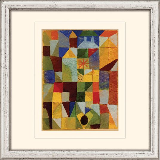 """Paul Klee: Bild """"Städtische Komposition"""" (1919), gerahmt"""