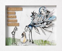 """Bild """"Als er den Vogel kaufte, war der beinahe aufgeblüht"""" (2014)"""