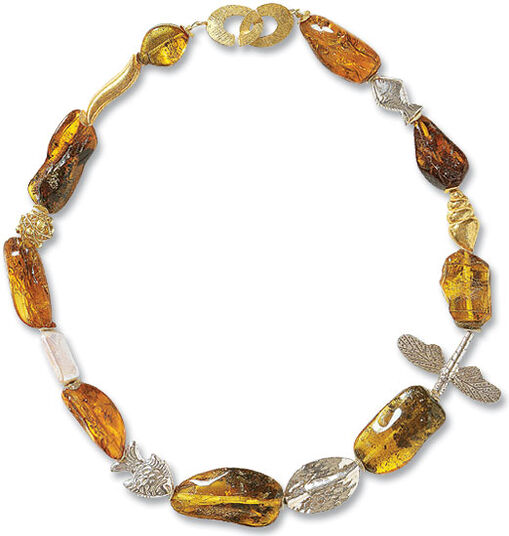 "Vilma Milukaité: Necklace ""Life in Amber"""