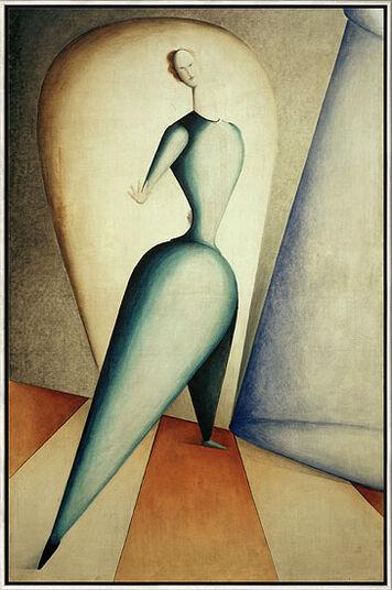 """Oskar Schlemmer: Bild """"Die Tänzerin"""" (1922), gerahmt"""
