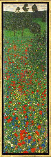 "Gustav Klimt: Painting ""Poppy Field"""