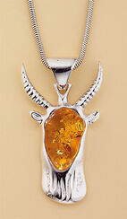 "Amber Necklace ""Capricorn"""