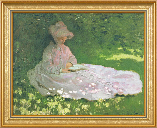 "Claude Monet: Painting ""The Reader"" (1872), Framed"