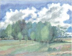 """Bild """"Landschaft mit Birken"""" (2002)"""