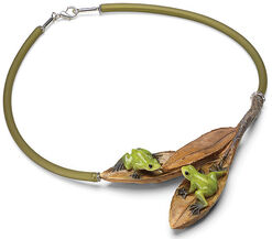 "Necklace ""Tree frogs"""