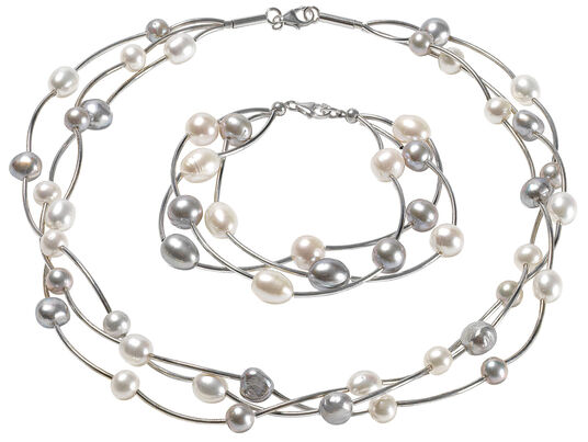 "Marc Kolsters: Schmuckset ""Pearls"""