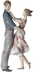 "Porzellanskulptur ""Beglückende Begegnung"" (Virginia González), handbemalt"