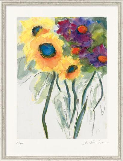 """Christine Kremkau: Bild """"Sonnenblumen"""" (2014), gerahmt"""