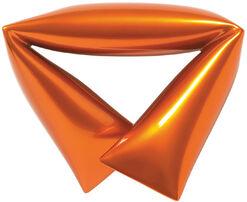 """Stahlobjekt orange"" (2015) (Unikat)"