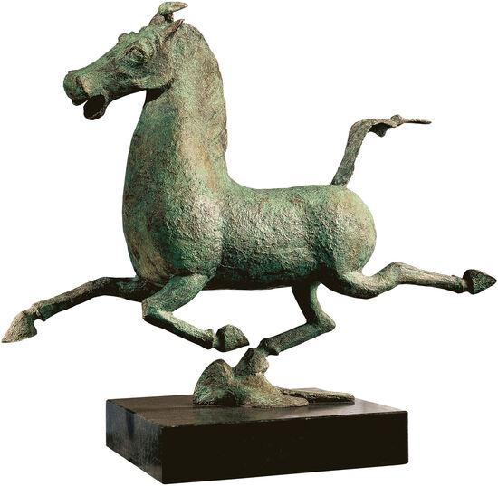 Skulptur ´Das fliegende Pferd aus Gansu´, Bronz...