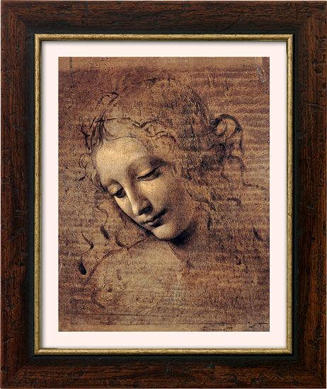 Leonardo da Vinci: ´Frauenkopf´ (um 1508), Bild
