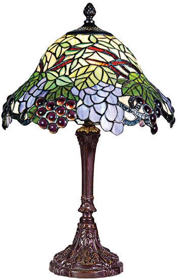 Tiffany-Leuchte ´Weinranken´, Lampe