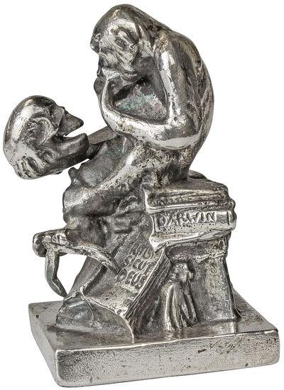Wolfgang Hugo Rheinhold: Skulptur ´Affe mit Sch...