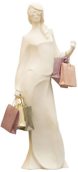 Skulptur ´Beim Einkaufsbummel - Shopping-Queen´...