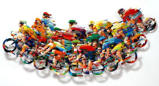David Gerstein: 3D-Wandskulptur ´Peleton Wave -...